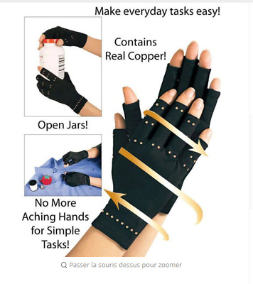 1pair 2019 Copper Hands Arthritis Gloves  Compression Men Woman
