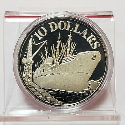 1975 Republic of Singapore 10 Dollars 10th Anniversary Proof Coin (1Q)