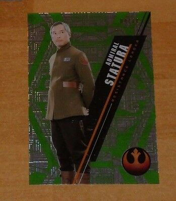 Topps 2016 STAR WARS High Tek Card SW-91 STATURA 04/10 Carte