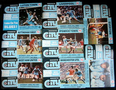 Manchester  City  League & Cups  Home  1982-1983   all with token   vgc