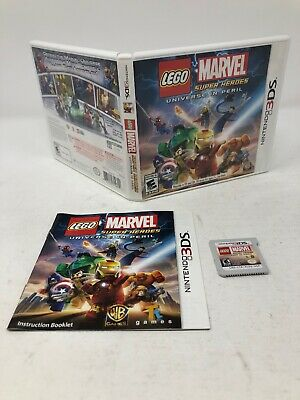 Nintendo 3DS Lego MARVEL Super Heroes Universe in Peril Complete Game Box Manual