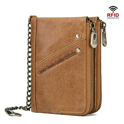 Genuine Leather Men Wallets RFID Small Wallet Card Holders Short Male Coin Purse