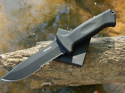 Gerber Prodigy 420HC Black Oxide Coating Black Rubber Handle Black Nylon Sheath