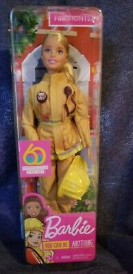 Barbie You Can Be Anything 60th Anniversary FIREFIGHTER Doll Special Edition NEW