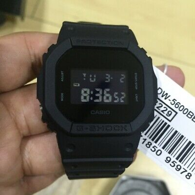 New Casio G-Shock DW5600BB-1 Matte Black Digital Watch
