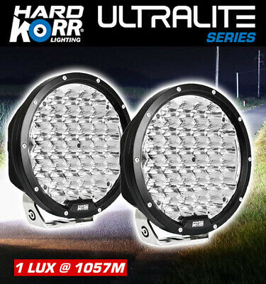 "Hard Korr Ultralite Series 9"" LED Driving Light (Pair) 4X4 4WD Spotlight Offroad"