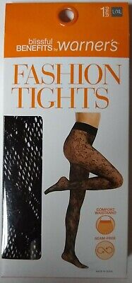 b95aee2c1b0c6 Fashion Tights Blissful Benefits by Warner's L/XL Women's Black Floral FREE  ...