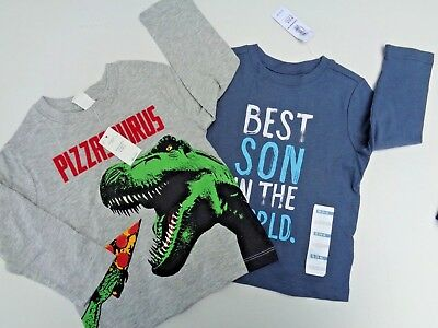 NEW Lot Baby Gap T-shirt~Old Navy Tee Size 18-24 M Dino Boys Toddler Best Son