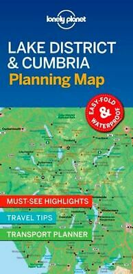 NEW Lonely Planet Lake District & Cumbria Planning Map By Lonely Planet