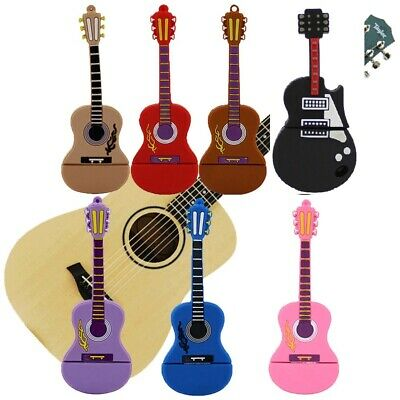 High Speed Guitar Shape 8GB 16GB USB Memory Stick Flash Pen Drive wholesale