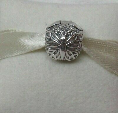 Authentic Pandora Lacewing Butterfly Charm Clip 791256 RETIRED