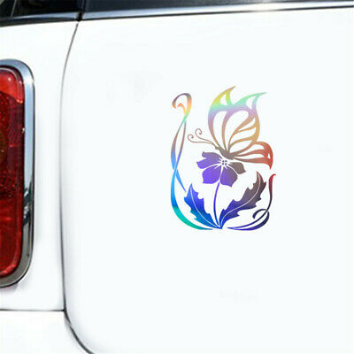 Butterfly Flower Sticker Car Motorcycle Laptop Window Removable Vinyl Van Decal