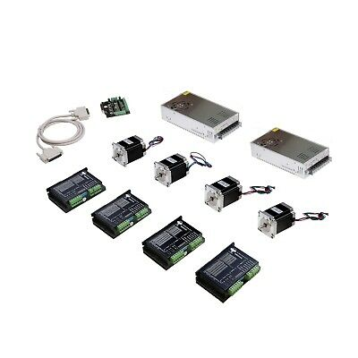 4Axis Nema 23 Stepper Motor 270oz-in 3A&Driver Controller DM542A kits CNC Router