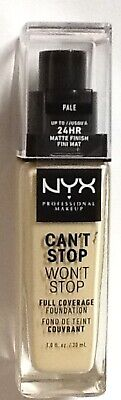 NYX Can't Stop Won't Stop 24-Hour Foundation  PALE FREE SHIPPING