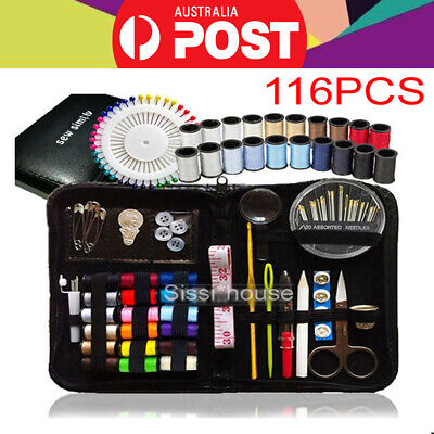 116pcs Portable Sewing Kit Home Travel Emergency Professional Sewing Set - NEW