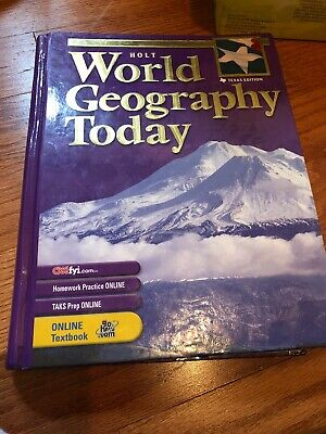 HOLT WORLD GEOGRAPHY Student Edition PC Brand New