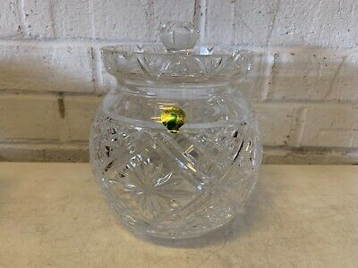 Vintage Waterford Cristal Redondo Galleta Tarro con Tapa