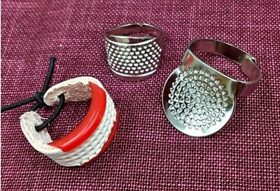 3 x Adjustable Thimble's, suitable for Sashiko Embroidery. made in Japan