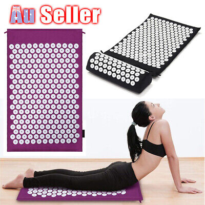 Acupressure Massage Mat Body for with Relief Stress/Pain/Tension Pillow relax