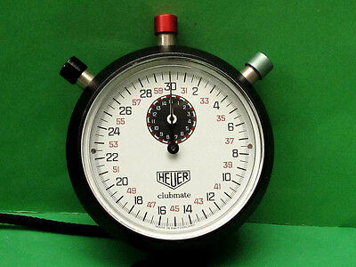 HEUER Clubmate Swiss Stop Watch, Mechanical Chronograph. Good working.