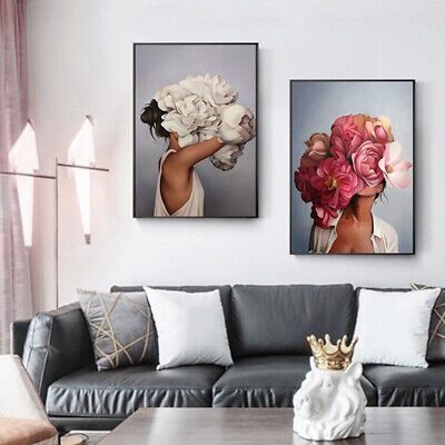 1x Nordic Abstract Canvas Unframed Art Art Poster Prints Painting Wall Home Gift
