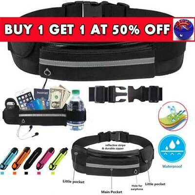 Running Bum Bag Fanny Pack Travel Waist Bags Money Zip Belt Pouch Sports WalletI