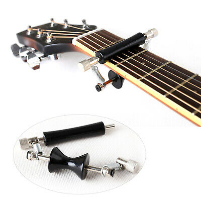 Black Metal & Rubber Guitar Rolling Slide Capo for 6-String Guitar