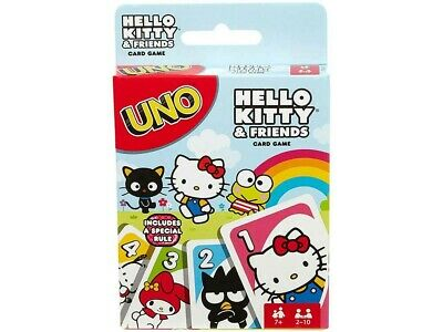 Colourful Uno Hello Kitty Cartoons Card Game (MAT58760)