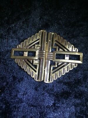 """***WOW*** An Authentic French 1920's Signed """"LW Paris"""" Belt Buckle"""