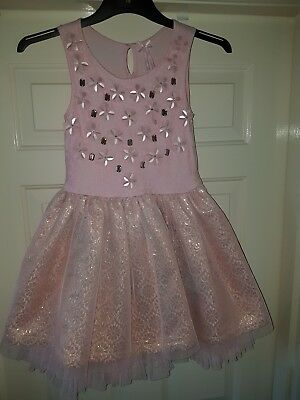 Next Girls Occasions Sleeveless  Dress In Pink Colour Age 8yrs Old
