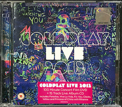 COLDPLAY LIVE 2012 MALAYSIA DELUXE Edition CD + DVD-9 SET RARE NEW FREE SHIPMENT