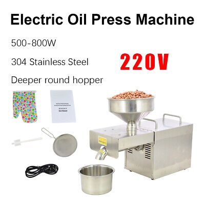 Stainless Steel Automatic Oil Press Machine Commercial Oil Mill Extraction 110V