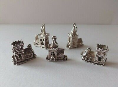 Vintage Silver Charms Assorted Opening Churches