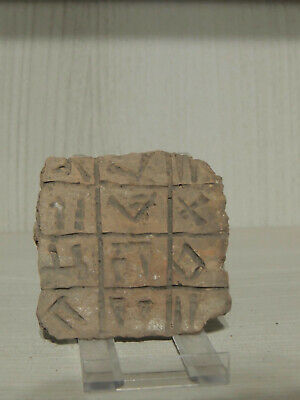 Ancient Clay Stone Fragment With Archaic Graffiti,Scriptures