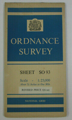 1963 Old Vintage OS Ordnance Survey 1:25000 First Series Map SO 93 Bredon