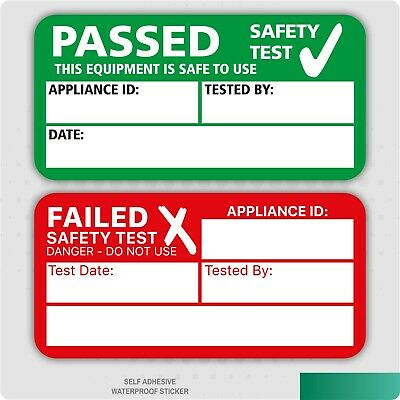 PAT Test Passed Stickers Safety Test Self Adhesive Label (Various Pack Sizes)