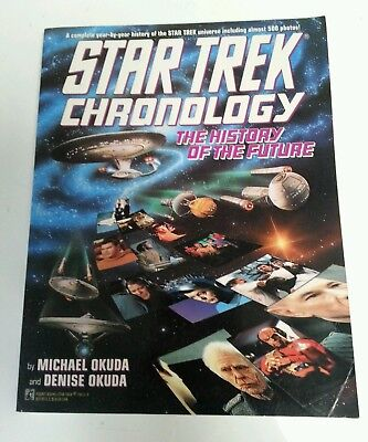 BOOK - Star Trek Paperback The Chronology History Of The Future By Okuda 1993