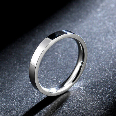 316L Stainless Steel Silver Polished Band 3mm Women's Anniversary Ring Size 4-11