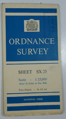 1965 Old Vintage OS Ordnance Survey 1:25000 First Series Map SX 25 Looe 20/25
