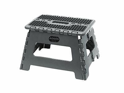 Addis Folding Step Stool  - Stool Tools Metallic Grey
