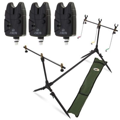 NGT Carp Fishing POD & Swingers with 3 Bite Alarms 3 Rod Rests & Bag