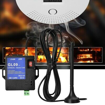 Wireless Mini GL09 8CH GSM SMS Alarm System Module Antenna for Home Security GF