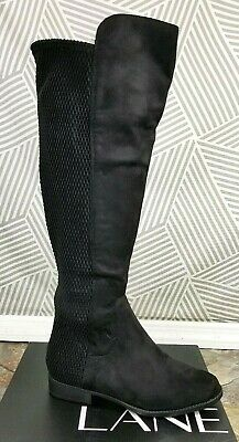 8090113a56a Lane Bryant Over the Knee Boots Womens Wide Width Calf Stretch size 7W Suede