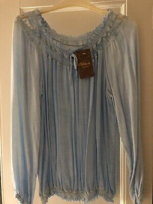Beautiful Baby Blue Top Brand New With Tags One Size
