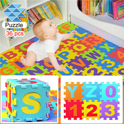 36PCS Baby Kid Room Alphabet Number Foam Crawl Playing Floor Mat Jigsaw Puzzle X