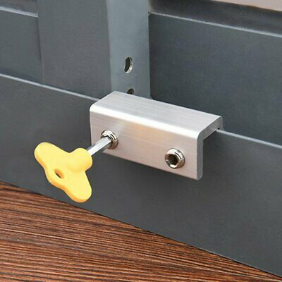 Move Window Child Safety Lock Security Sliding Sash Stopper Fixing Restrictors