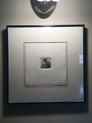 """Framed Limited Production #19/100 Color Engraving, """"Prosaic Memories"""", Stunning!"""