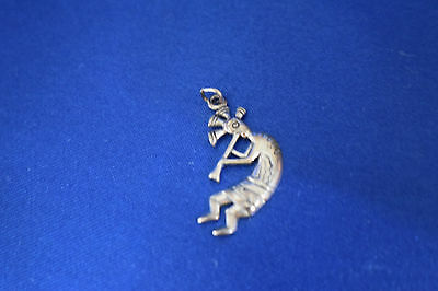 Vintage Kokopelli Man Dancing and Playing Pendant, Sterling Silver