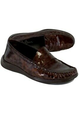 1fdcc5b99 COLE HAAN- RED Tortoiseshell Patent Leather Loafers Sz 6 -  69.30 ...