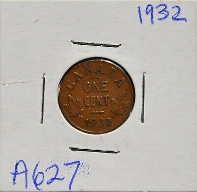 1932 Canada 1 Cent Coin, George V, Canada Small Cent, Lot A627